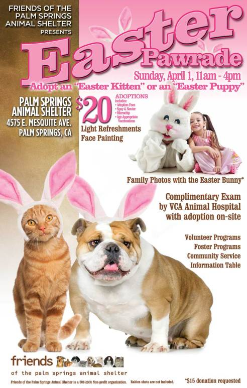 Palm Springs Animal Shelter To Host First Annual Easter Pawrade
